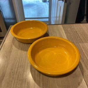2/28$ Fiestaware MARIGOLD medium bowls